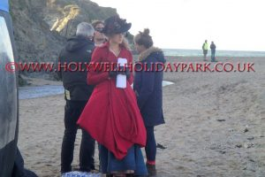 poldark 15 300x200 - Poldark at Holywell Bay