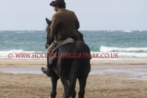 poldark 6 300x200 - Poldark at Holywell Bay