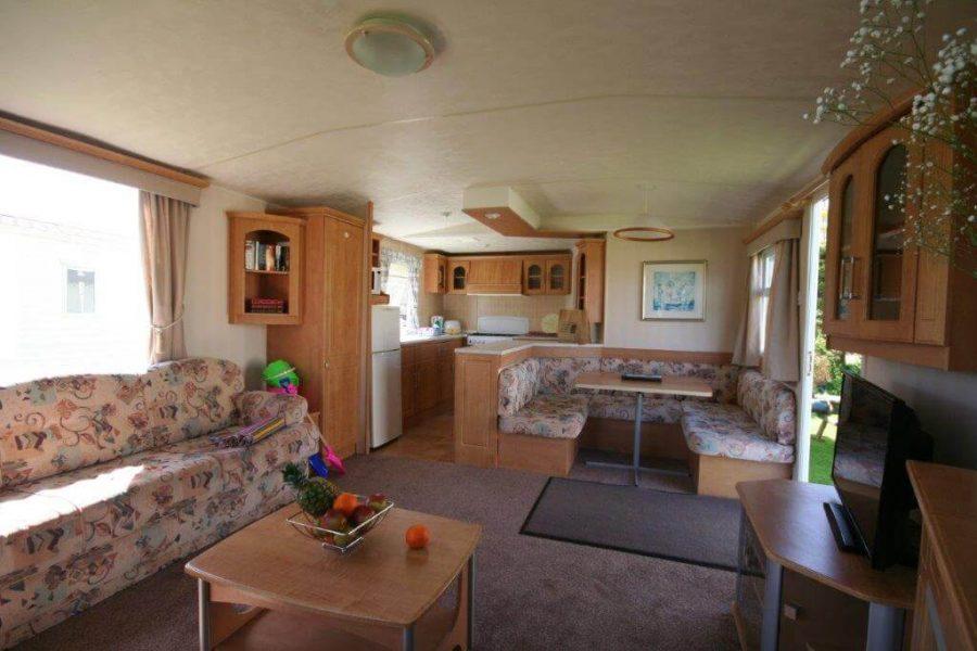 lounge caravan holywell bay