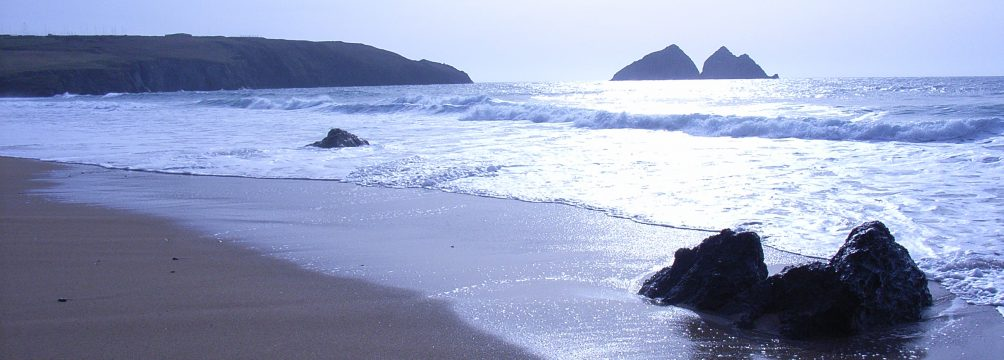 Holywell bay beach winter holiday by The Meadow Holiday Park Holywell Bay